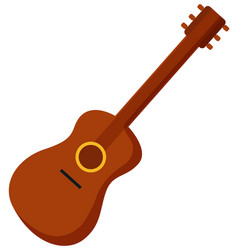 classical acoustic guitar isolated on white vector image