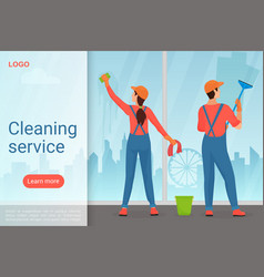 cleaning service modern landing page vector image