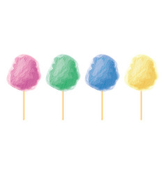 Colorful candy cotton set vector