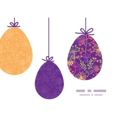 Colorful garden plants hanging Easter eggs vector