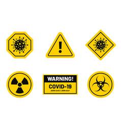 coronavirus outbreak corona virus warning and vector image