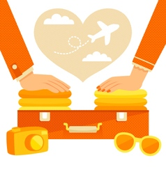 couple packing vector image