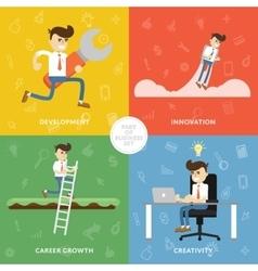 Creative business concept banner vector