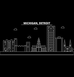 Detroit silhouette skyline usa - detroit vector