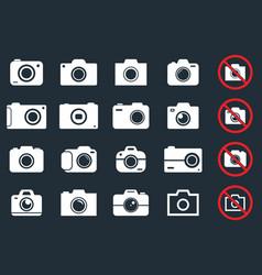 digital camera icons vector image