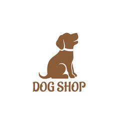 Dog shop logo vector