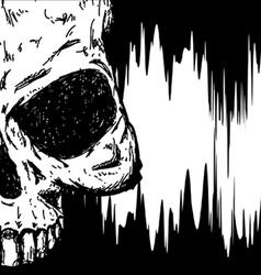 drawn skull vector image