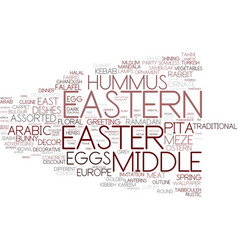Eastern word cloud concept vector
