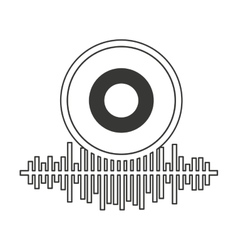 equalizer audio isolated icon vector image