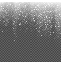 Falling snow on a transparent background vector image vector image