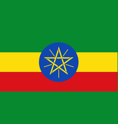 Flag in colors of ethiopia image vector