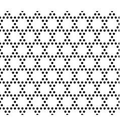 geometric seamless pattern monochrome hexagonal vector image