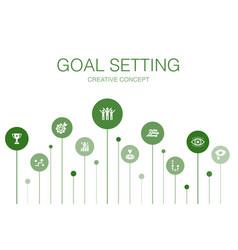 Goal setting infographic 10 steps templatedream vector