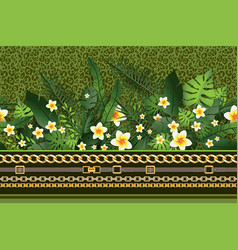 green trendy border vector image