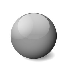 grey glossy sphere ball or orb 3d object vector image
