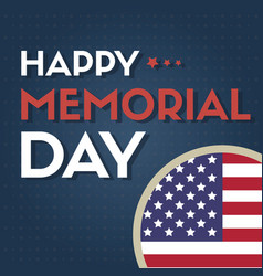 happy memorial day collection style card vector image