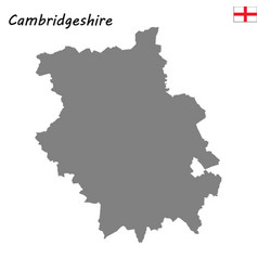 High quality map is a ceremonial county of england vector