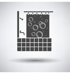 Hotel bathroom icon vector image