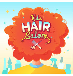 Kids hair salon vector