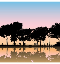 landscape silhouettes vector image vector image