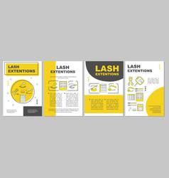 Lash extension brochure template layout false vector