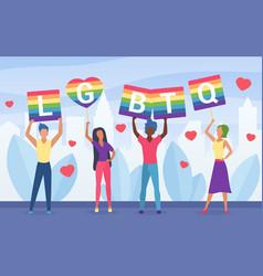 Lgbt pride activism concept vector