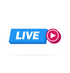 live streaming online sign design vector image
