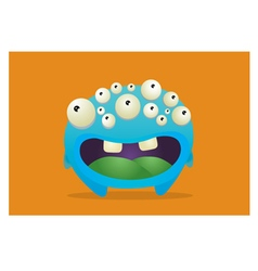 Many eyed monster vector
