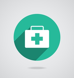 Medical white icon vector