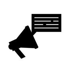Megaphone sound with speech bubble vector