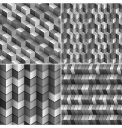 Monochrome blocks backgrounds vector image