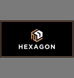 Nd hexagon logo design inspiration vector