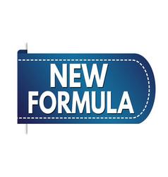 new formula banner design vector image