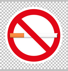 No smoking sign with transparent background vector