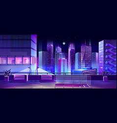 Observation desk on city building ro vector