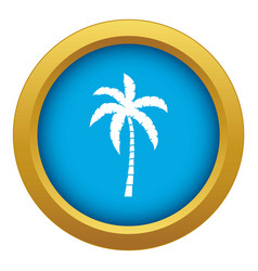 palm tree icon blue isolated vector image