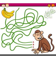 path or maze cartoon game vector image