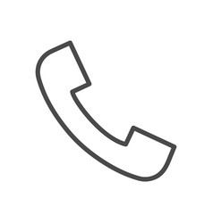 phone call line icon vector image
