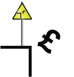 pound falling vector image