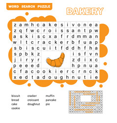 search words game educational children activity vector image