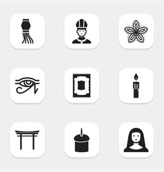 Set of 9 editable dyne icons includes symbols vector