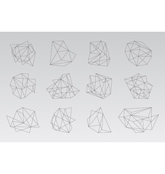 Set of geometric hipster shapes2 vector image