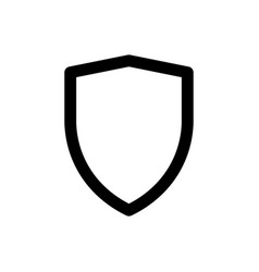 Shield icon security symbol safety sign vector