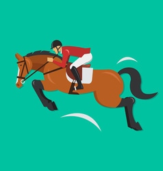 Show Jumping Horse with jockey Equestrian sport vector image