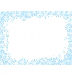 snowflake Christmas white night vector image