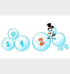 Snowman 2012 vector