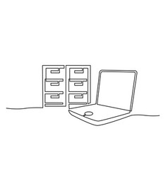 Storage files and data electronic in notebook vector