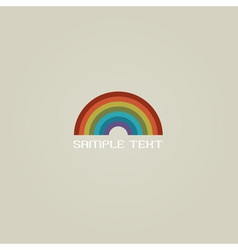 Stylish Rainbow vector image