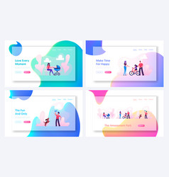 summer time outdoors activity website landing page vector image