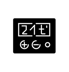 Thermostat icon black sign vector